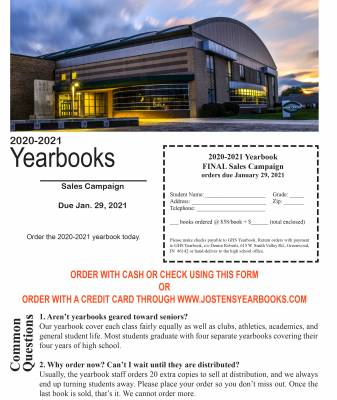 Final Yearbook Sales (2020-2021)